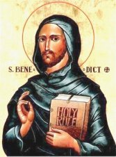 ST Benedict HOLY RULE icon